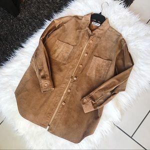 BAGATELLE | 100% Leather Shirt Women's VTG Vintage